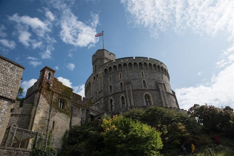 De vlag van Windsor Castle