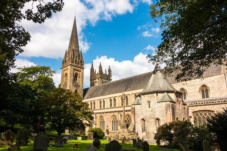 Llandaff Cathedral in Cardiff, Wales