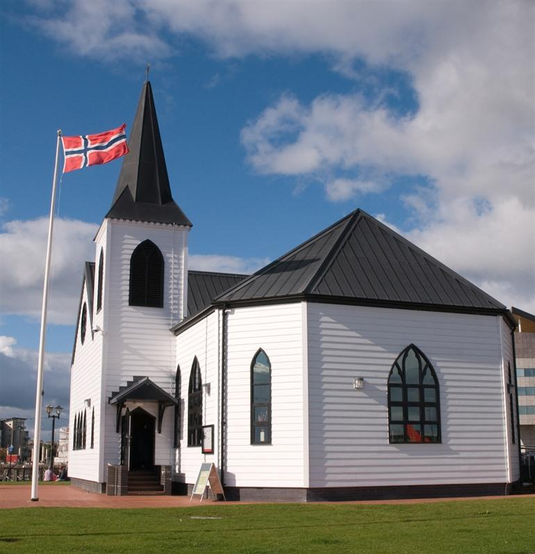 Norwegian Church in Cardiff, Wales