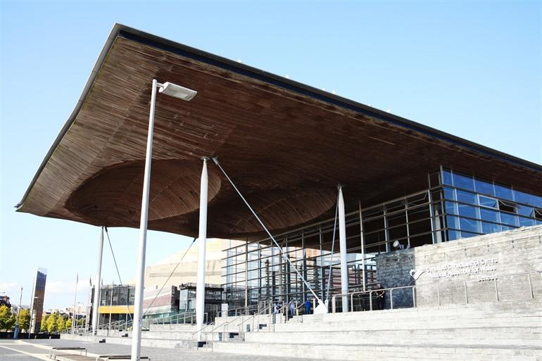 Welsh National Assembly Building in Cardiff, Wales